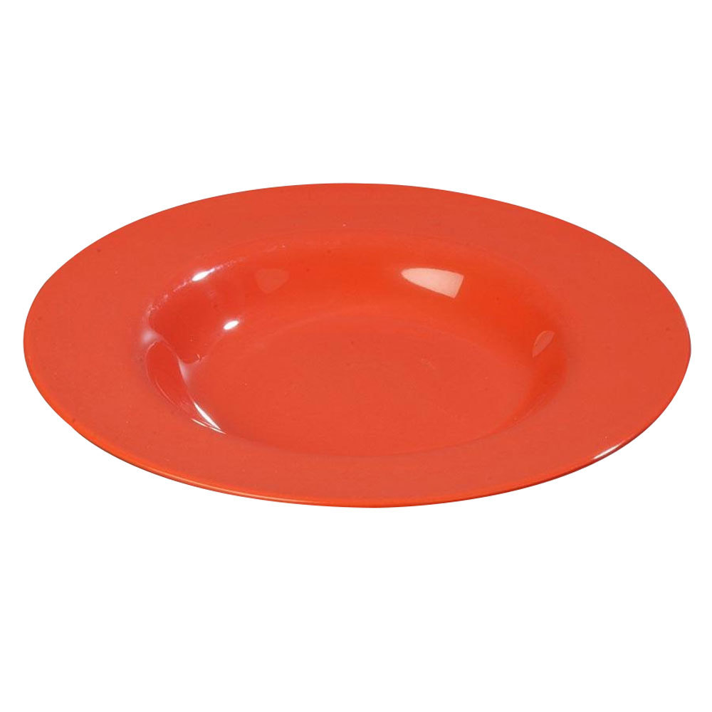 "Carlisle 3303452 Sierrus 9 1/4"" Sunset Orange Pasta / Soup / Salad Bowl - 24/Case"
