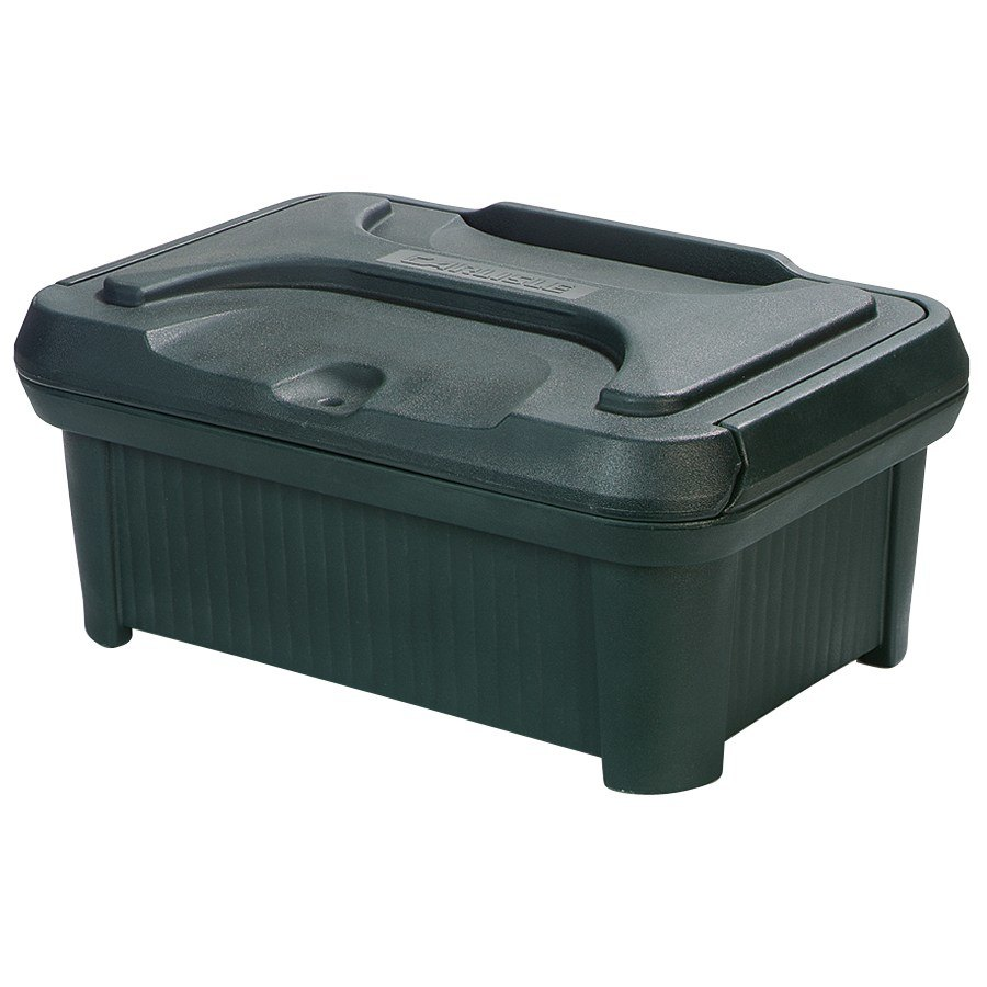 "Carlisle XT160008 Cateraide Slide N Seal 20"" x 12"" x 6"" Forest Green Insulated Food Pan Carrier and Sliding Lid Set"