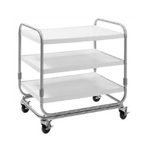 "Delfield UC-3SS Three Shelf Stainless Steel Utility Cart - 35"" x 23"""