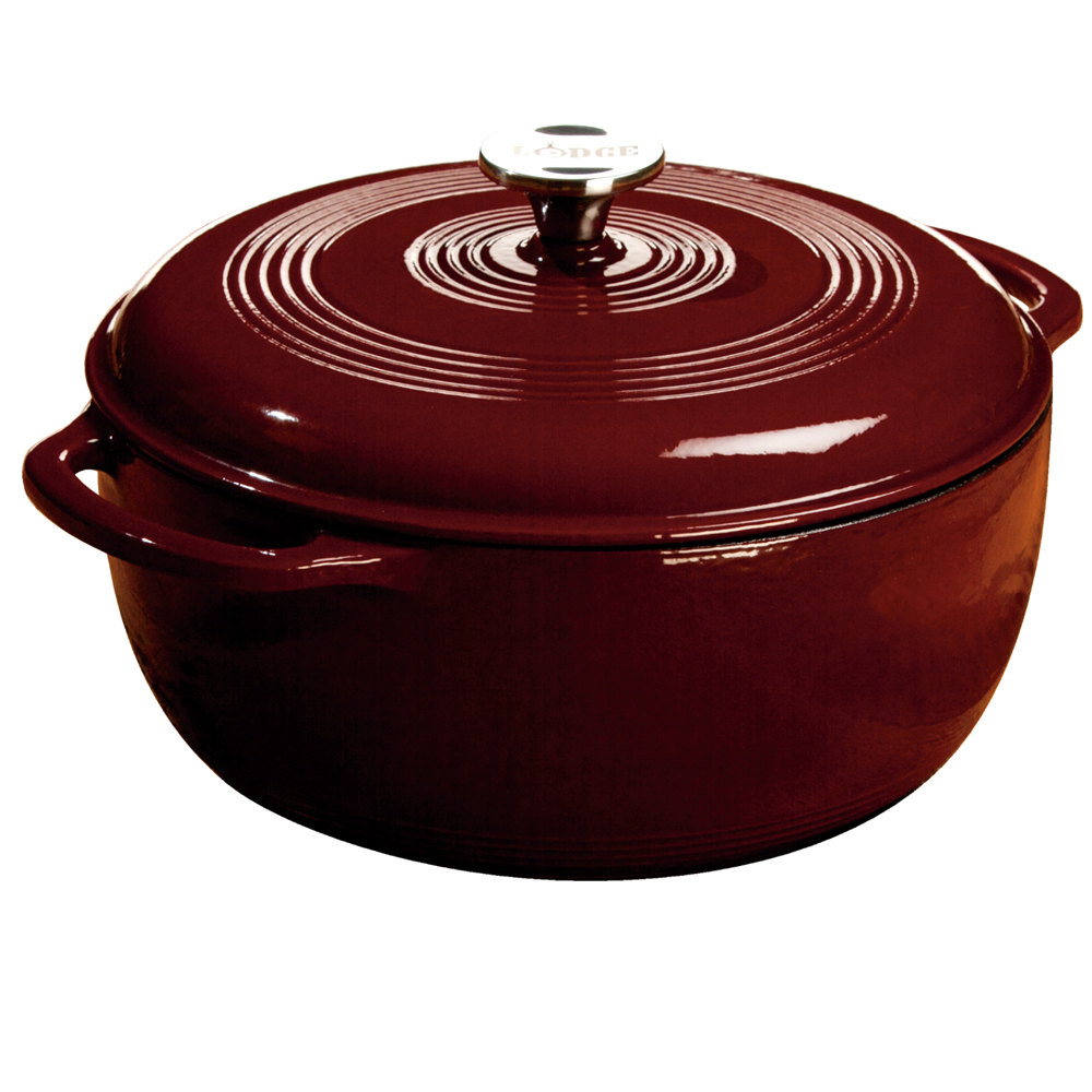lodge ec6d73 6 qt burgundy color enamel dutch oven. Black Bedroom Furniture Sets. Home Design Ideas