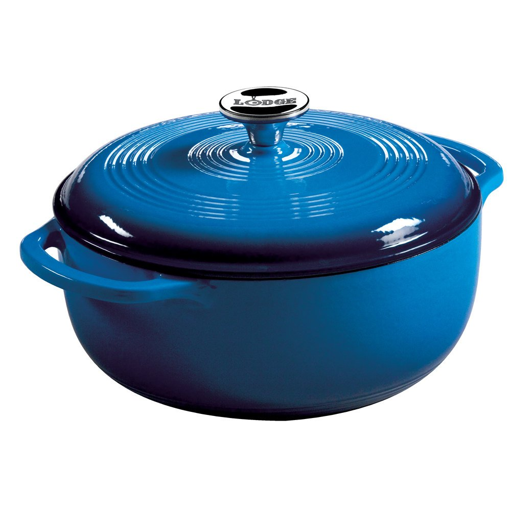 Prepare delicious pot roast, scrumptious stews, or a large batch of beans by using this Lodge Enamel Cast Iron Dutch Oven/5(18).