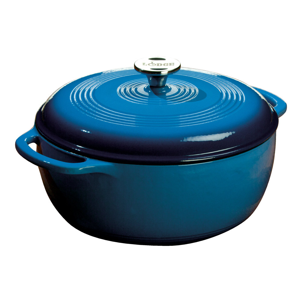 lodge ec6d33 6 qt caribbean blue color enamel dutch oven. Black Bedroom Furniture Sets. Home Design Ideas