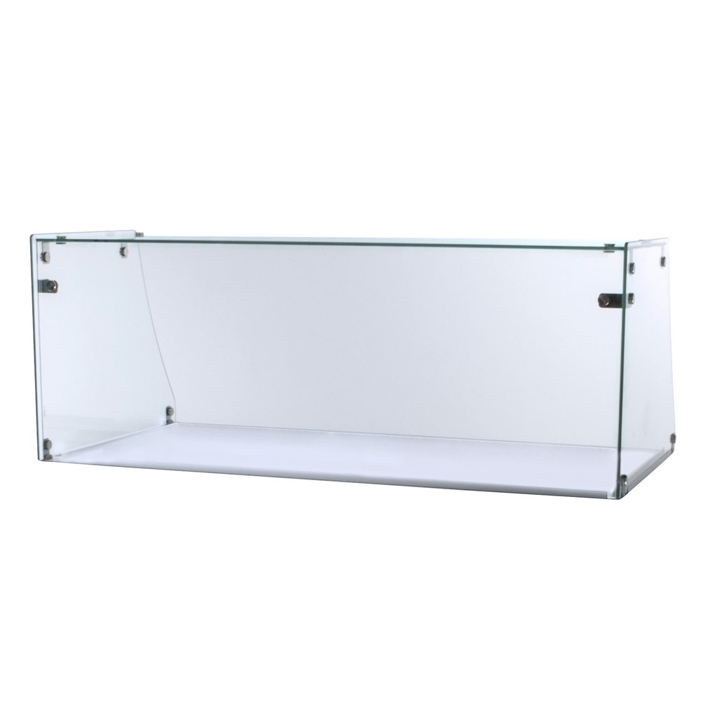 Excellence ACSG Straight Glass Sneeze Guard For EDC Ice - Dipping cabinet