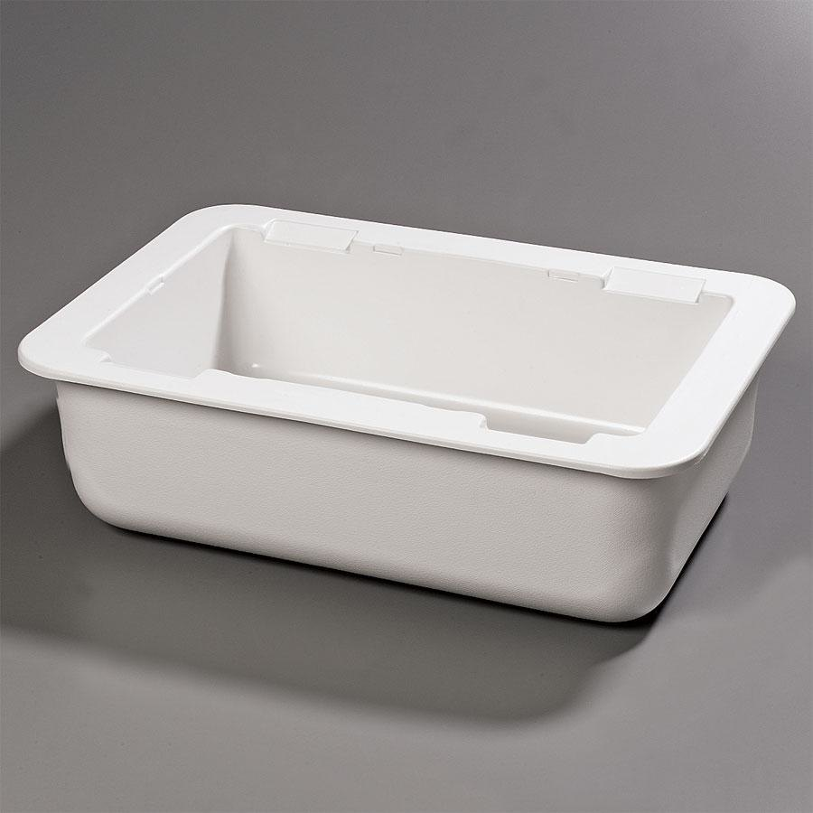 "Carlisle CM104202 Coldmaster Full Size White Cold Food Pan Holder - 6"" Deep"