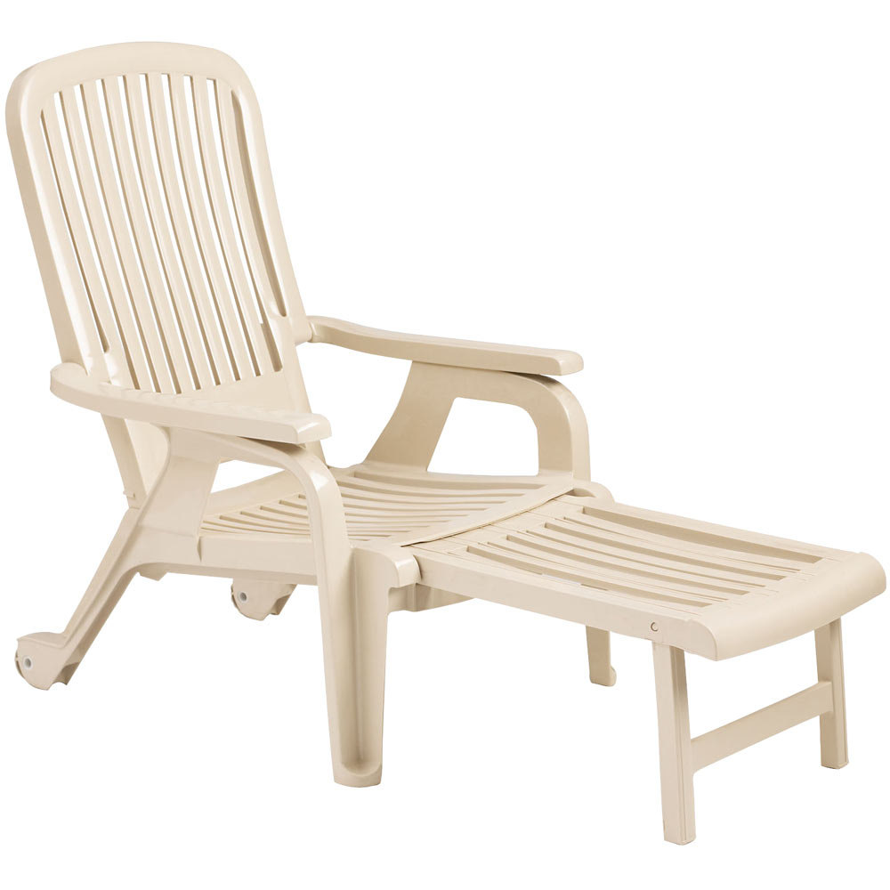 Grosfillex 47658066 Sandstone Bahia Stacking Resin Chair
