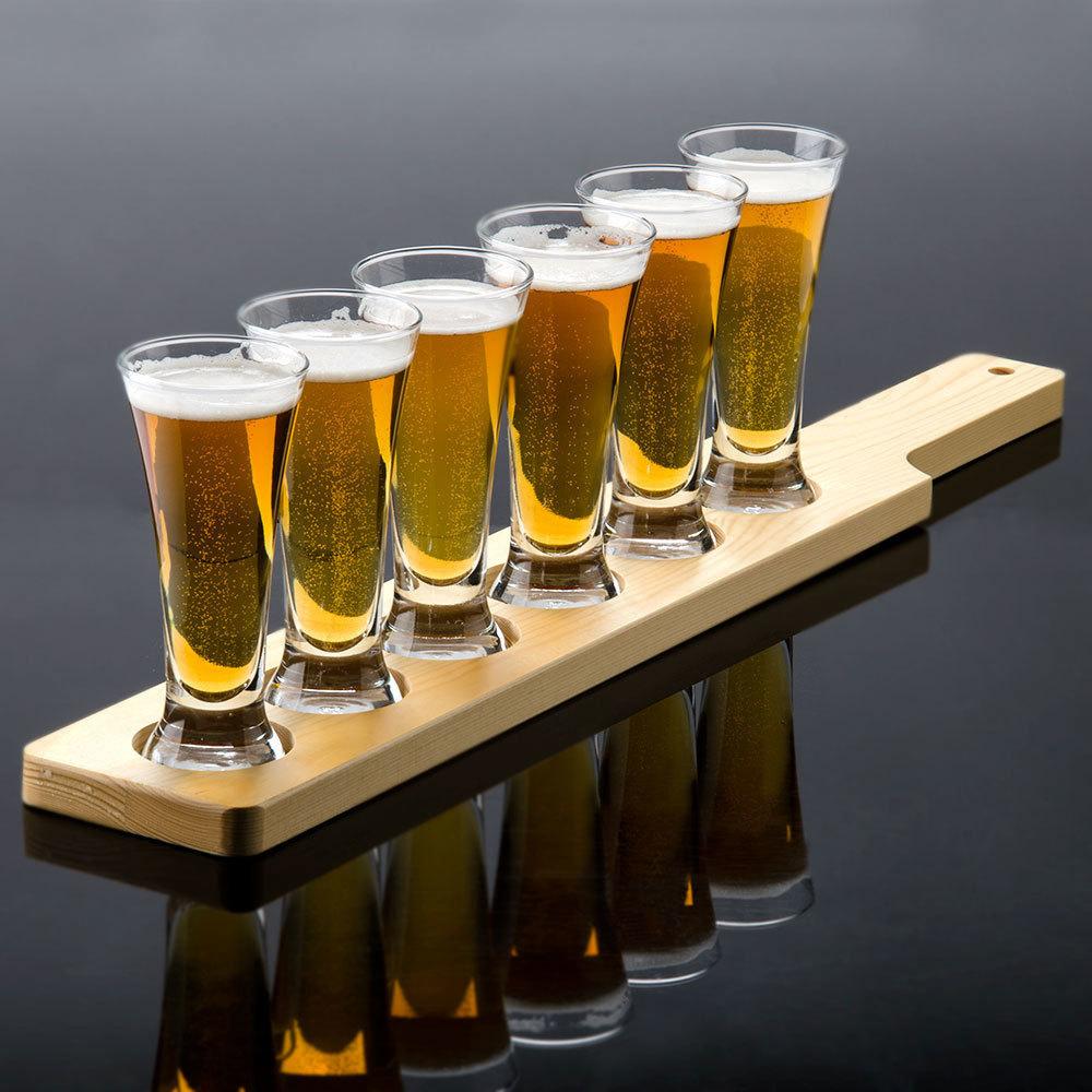 libbey craft brews beer flight 6 pilsner glass set with. Black Bedroom Furniture Sets. Home Design Ideas