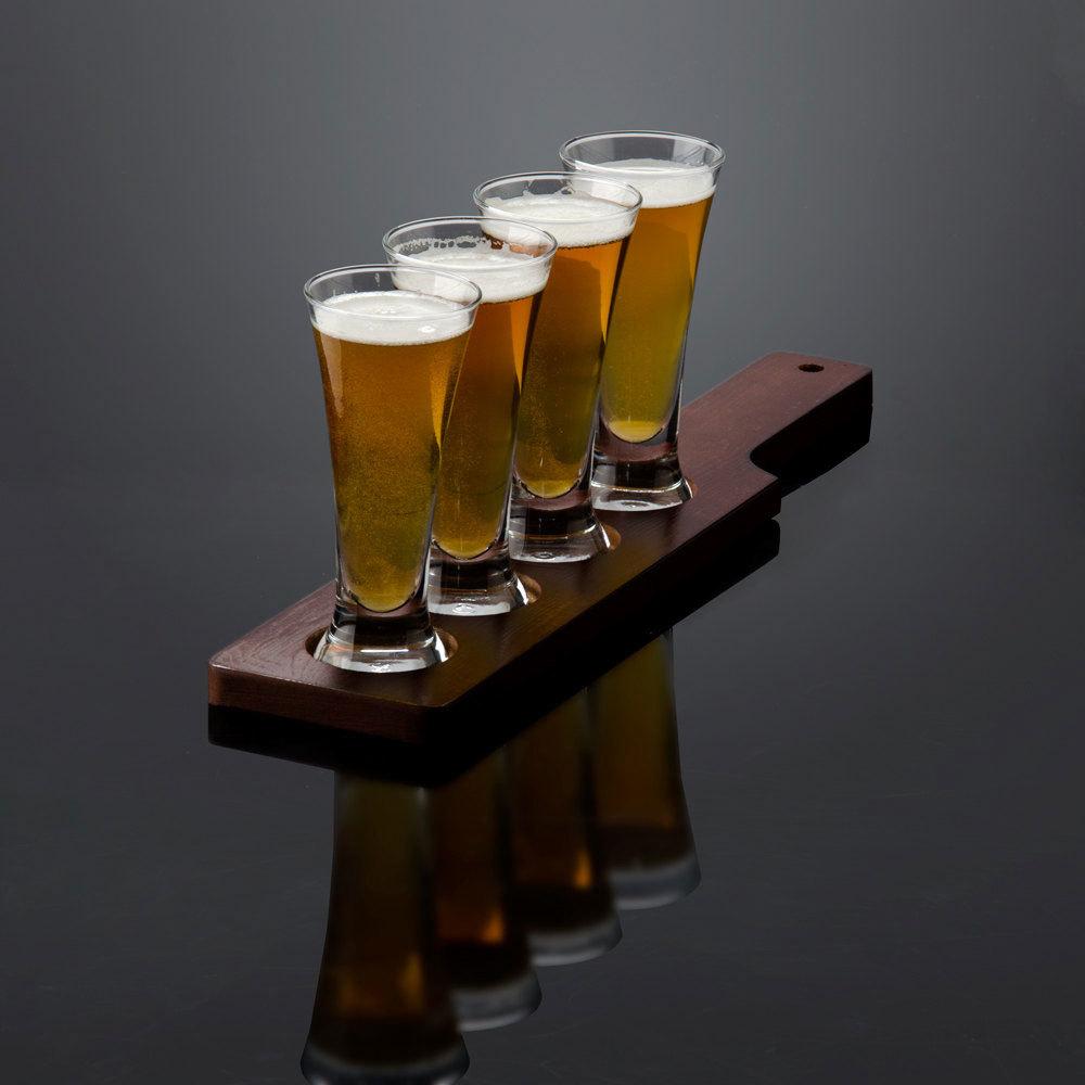 libbey craft brews beer flight 4 pilsner glass set with. Black Bedroom Furniture Sets. Home Design Ideas