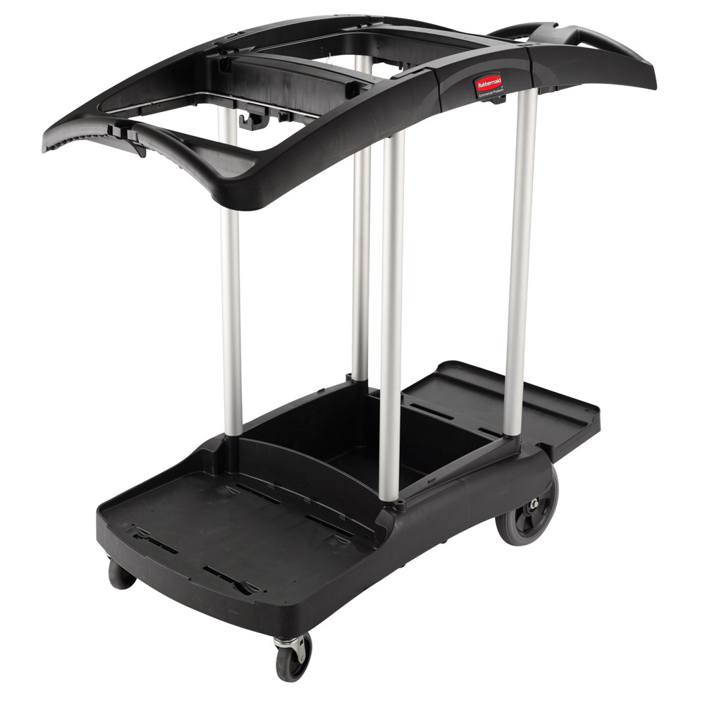 Rubbermaid fg9t9200bla triple capacity janitor cart - Carrito camarera ...