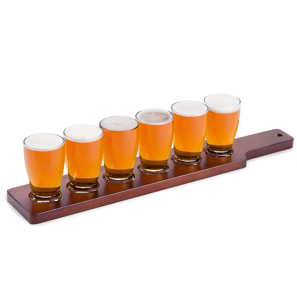 anchor hocking craft brews beer flight 6 glass set with. Black Bedroom Furniture Sets. Home Design Ideas