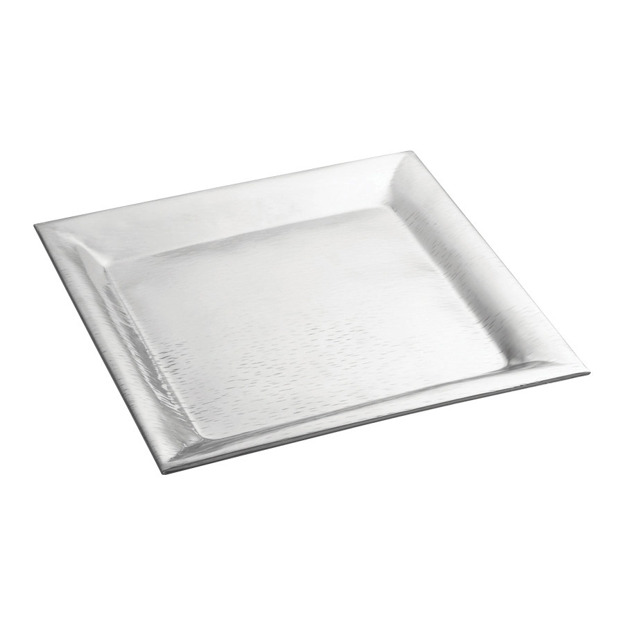 "Tablecraft R1616 Remington 16"" x 16"" Square Stainless Steel Tray"