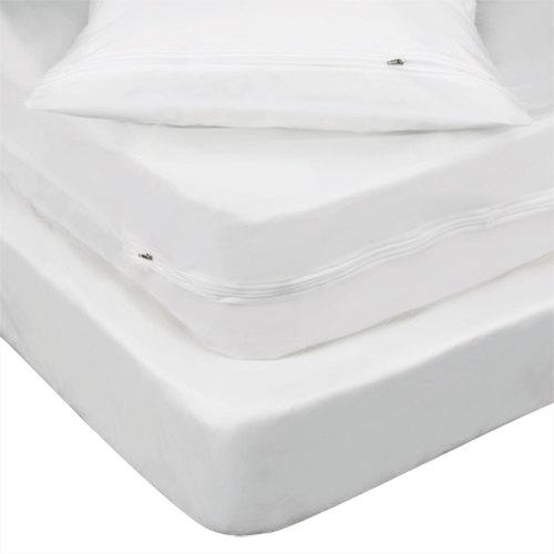 Bargoose Zippered Vinyl Bed Bug Proof King Mattress Encasement