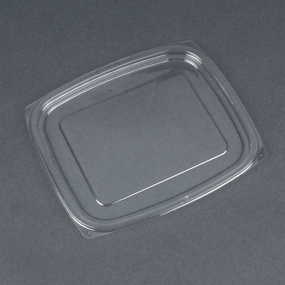 Dart Solo C32DLR ClearPack Clear Snap-On Flat Lid for 24 and 32 oz. Plastic Containers - 63 / Pack