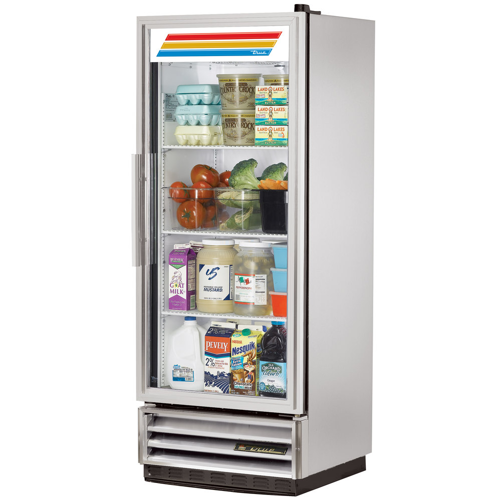 True T 12g Ld 25 Single Glass Door Reach In Refrigerator