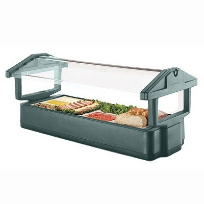Green Cambro 5FBRTT519 Table Top 5' Food / Salad Bar with Sneeze Guard