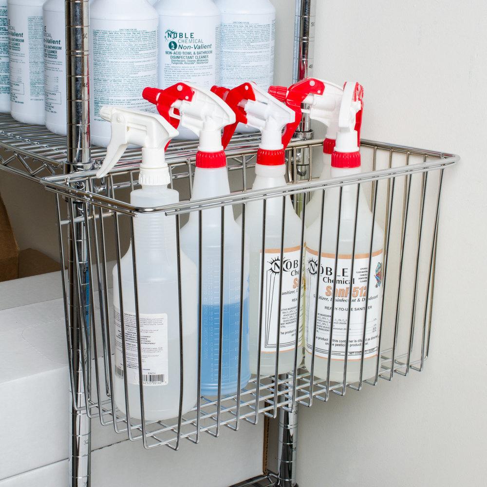 7 X 10 Storage Unit: Regency Chrome Storage Basket For Wire Shelving
