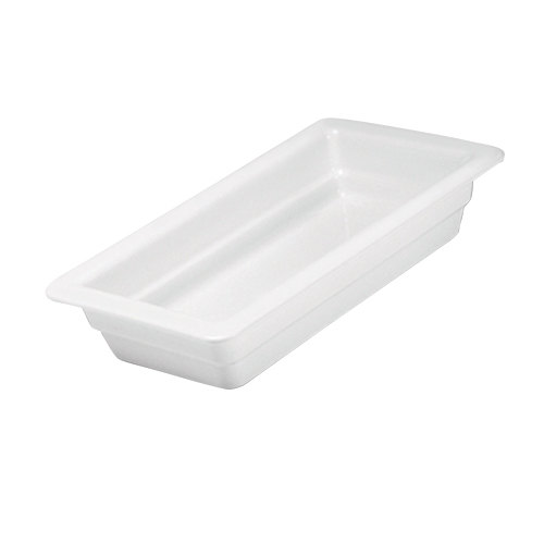 "Hall China 1014P0ABWA 1/3 Size 2 1/2"" Deep Bright White China Food Pan"