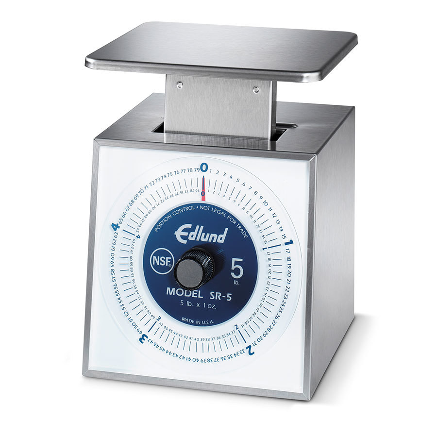 Edlund SR-10 OP 10 lb. Stainless Steel Mechanical Portion Scale with Stainless Steel Platform
