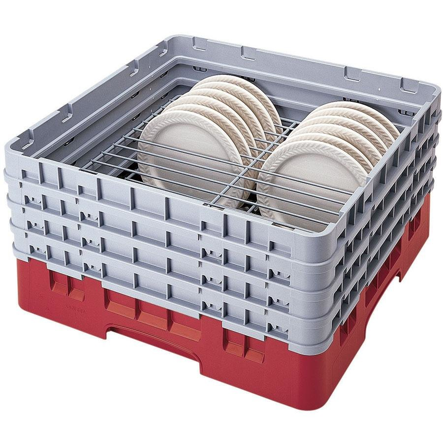 Cambro CRP9911163 Red Full Size PlateSafe Camrack 9-11""