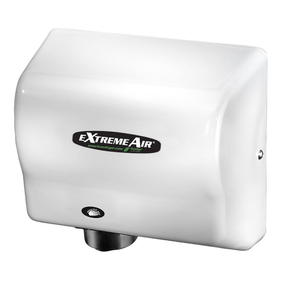 American Dryer EXT7 ExtremeAir Automatic Unheated Hand Dryer with White ABS Cover - 100-240V, 540W