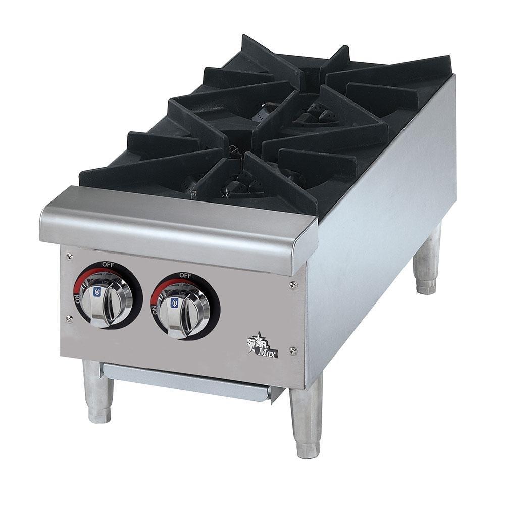 Countertop Gas Burner : Star Max 602HF 2 Burner Countertop Range - 50,000 BTU
