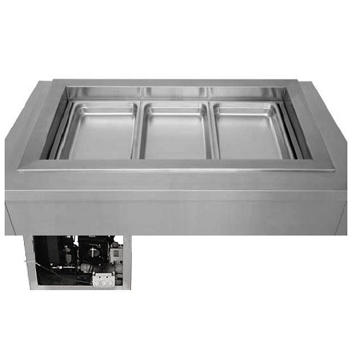 "Wells RCP-7200ST 33"" Two Pan Drop In Refrigerated Cold Food Well with Slope Top and Recessed Pan Compartments"