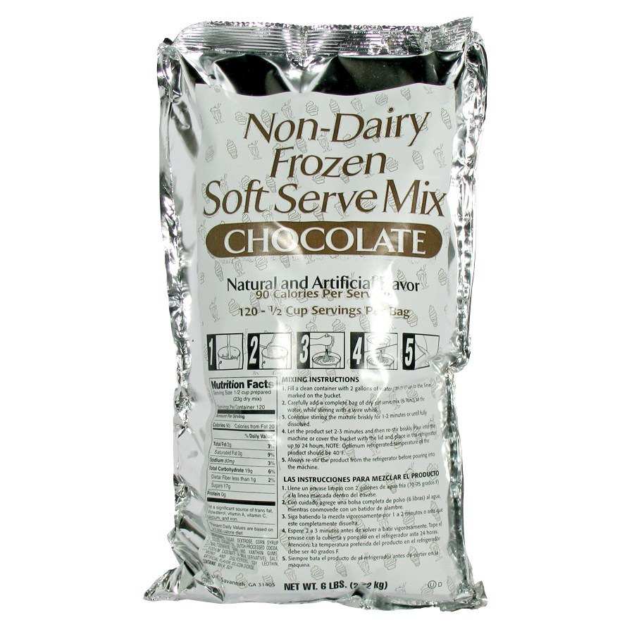 Chocolate Soft Serve Ice Cream Mix - Non-Dairy 6 / Case