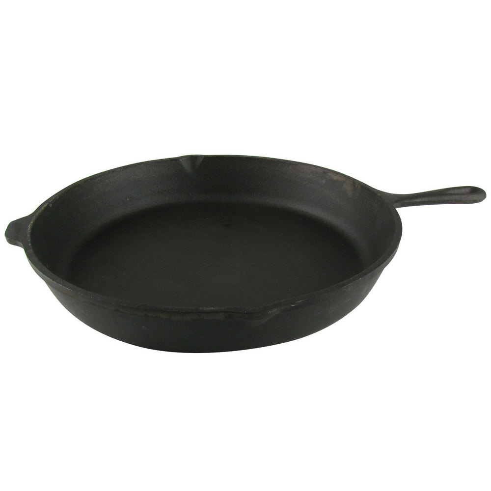 """What Size Cast Iron Skillet: 15 1/2"""" Cast Iron Skillet"""