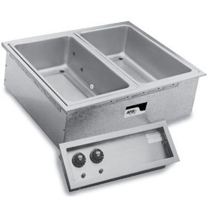 APW Wyott SHFWEZ-2D EZ-Fill 2 Well Insulated Drop In Hot Food Well - 208 / 240V