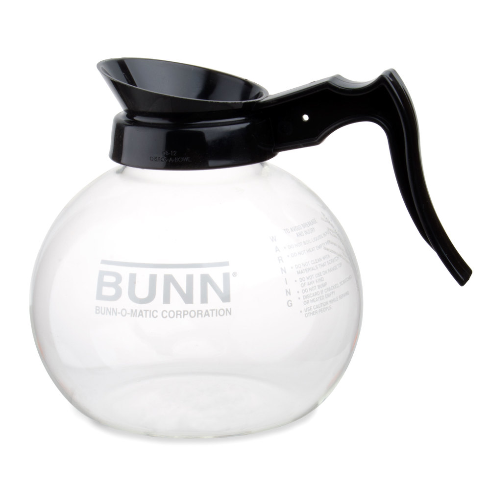 bunn 64 oz glass decanter with black handle. Black Bedroom Furniture Sets. Home Design Ideas