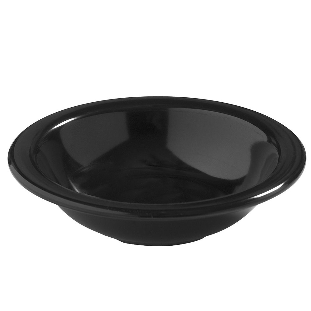 Carlisle 4386403 Black Dayton 10 oz. Rimmed Bowl 48 / Case