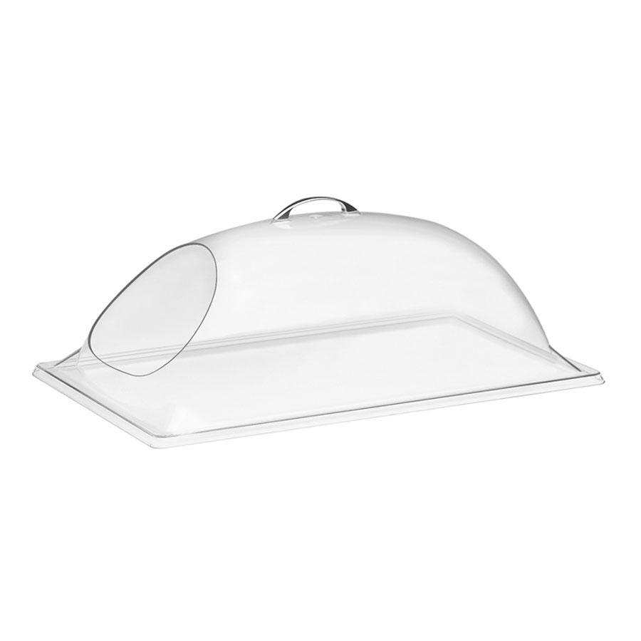 Cal Mil 322-12 12 inch x 20 inch x 7 1/2 inch Clear Dome Display Cover – One End Cut
