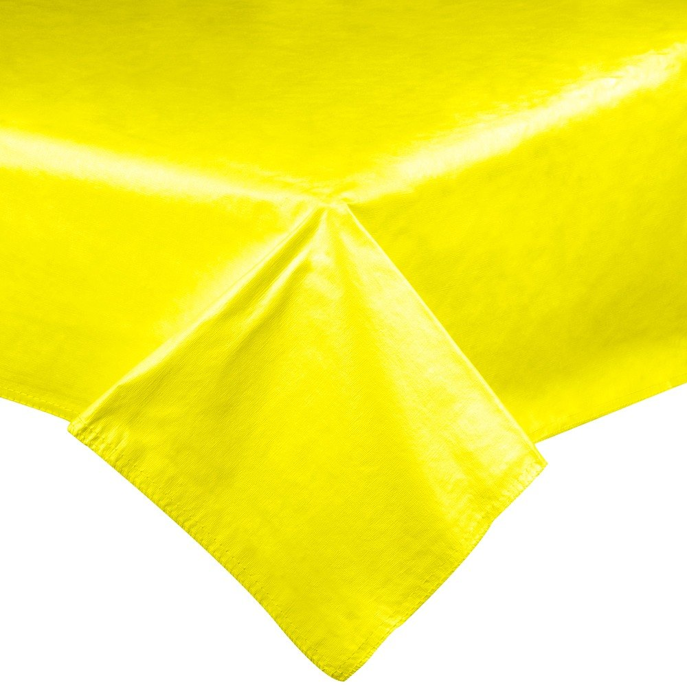 Yellow Vinyl Table Cover With Flannel Back 25 Yard Roll