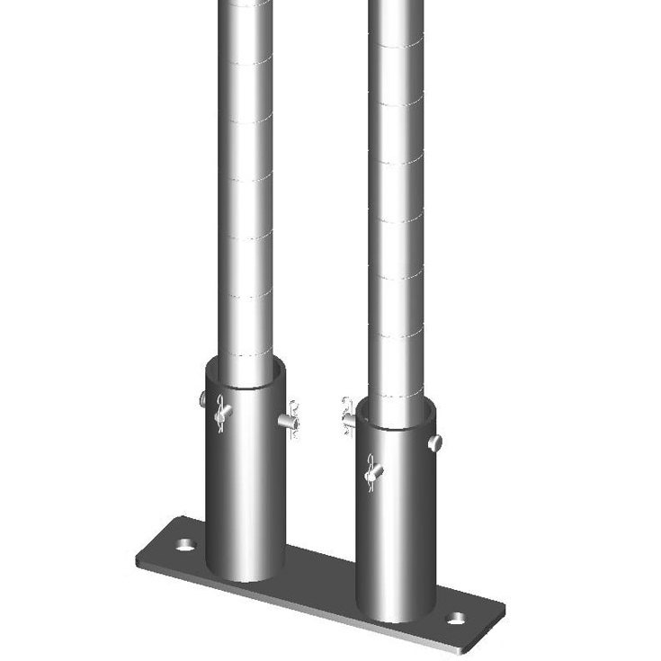 "Metro SASES50BP-2 Super Erecta 7"" x 12"" x 1/2"" Two-Post Seismic Bolt Plate Kit for Super Erecta / Super Adjustable / qwikSLOT Posts - 2/Pack"