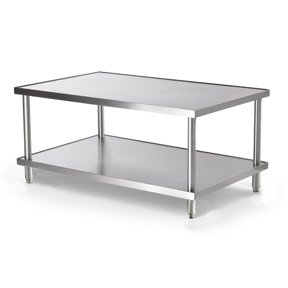"Vollrath 4087024 24"" x 30"" Stainless Steel Heavy Duty Stationary Equipment Stand with Undershelf"