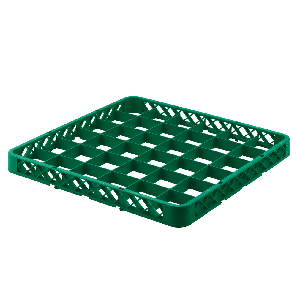 Noble rkext36 green 36 compartment full size glass rack for 20 x 36 window