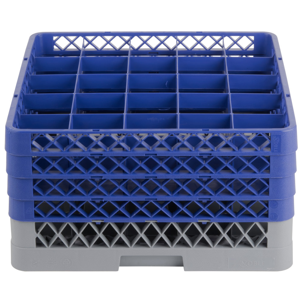 Noble Products 25 Compartment Gray Full Size Glass Rack