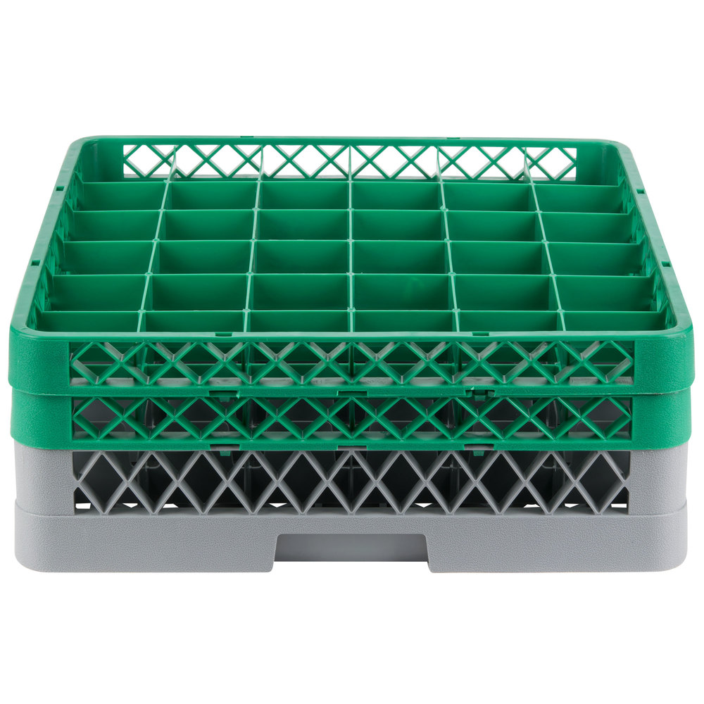 Noble Products 36 Compartment Gray Full Size Glass Rack