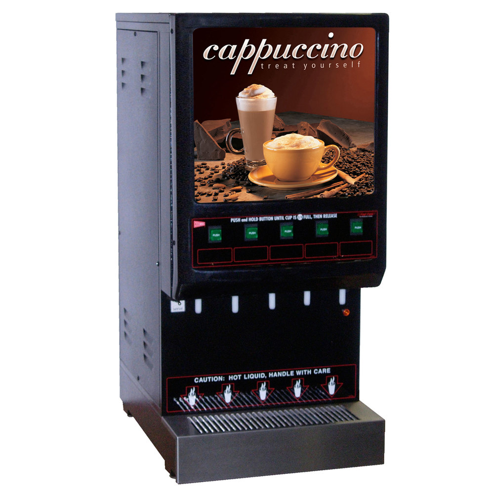 Cecilware 5K-GB-LD Cappuccino Dispenser with 5 Hoppers - 120V