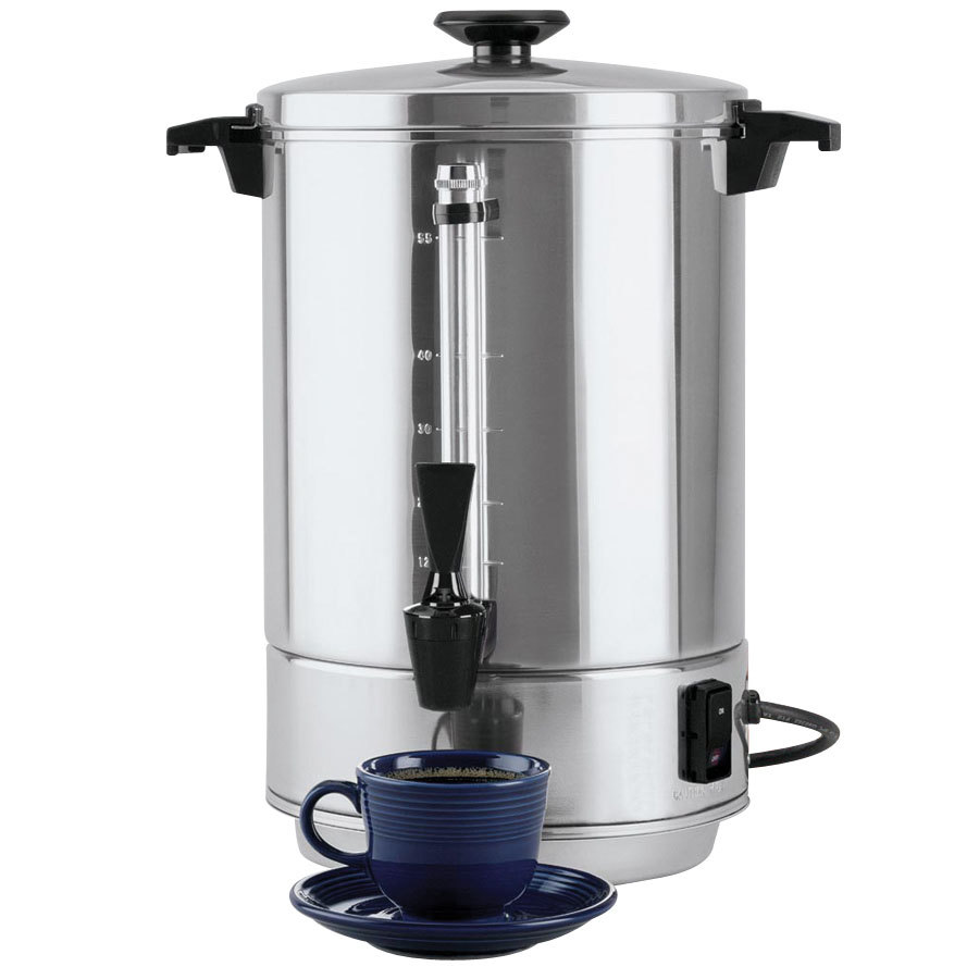 Industrial Coffee Maker Parts : West Bend 58055R 55 Cup (2.2 Gallon) Aluminum Coffee Urn