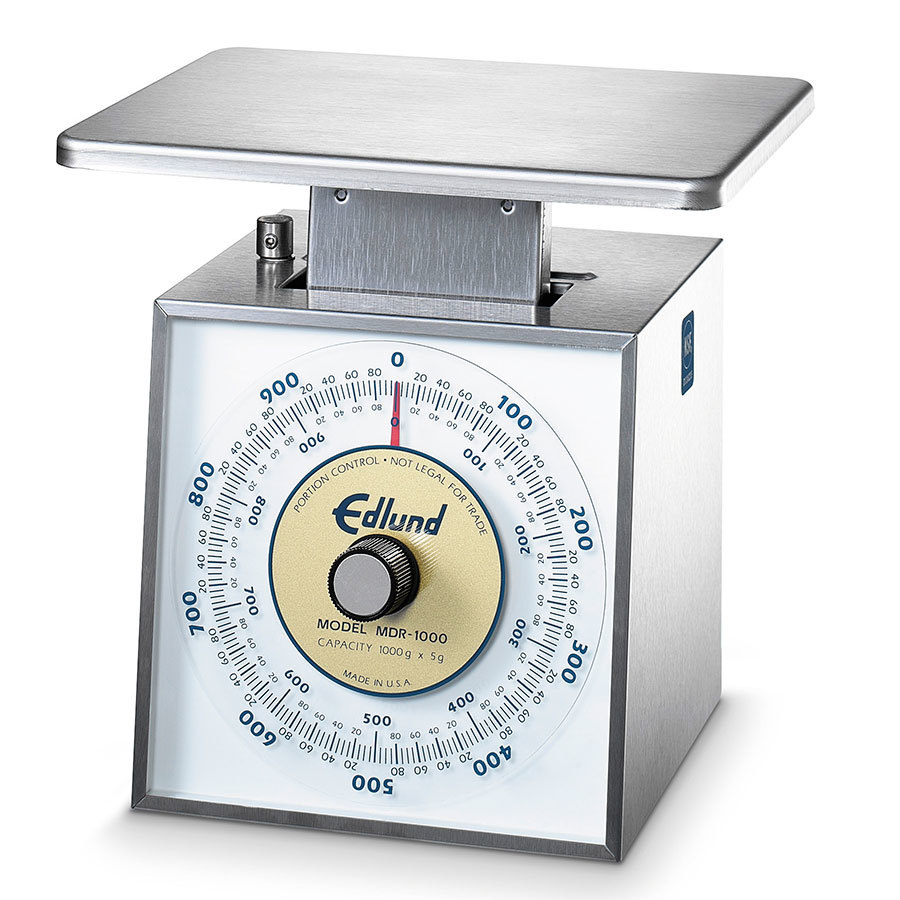 Edlund MDR-1000 OP 1000 g. Metric Portion Control Scale with 7 inch x 8 3/4 inch Platform