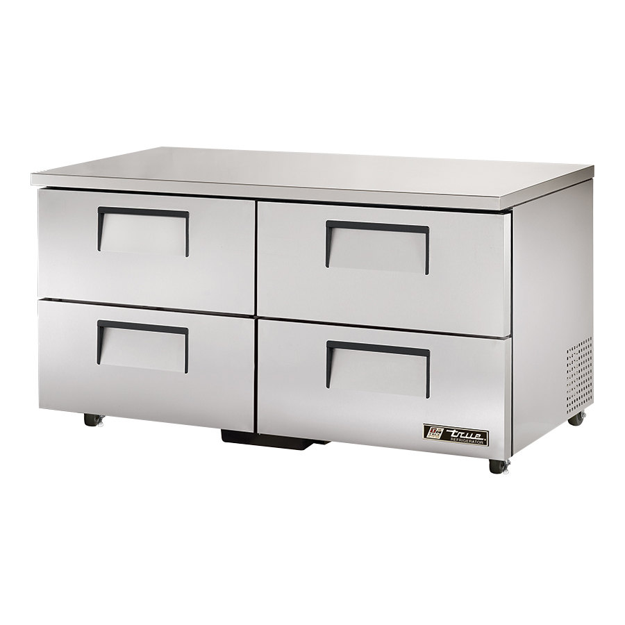True TUC-60D-4-ADA 60 inch Deep ADA Compliant Undercounter Refrigerator with Four Drawers