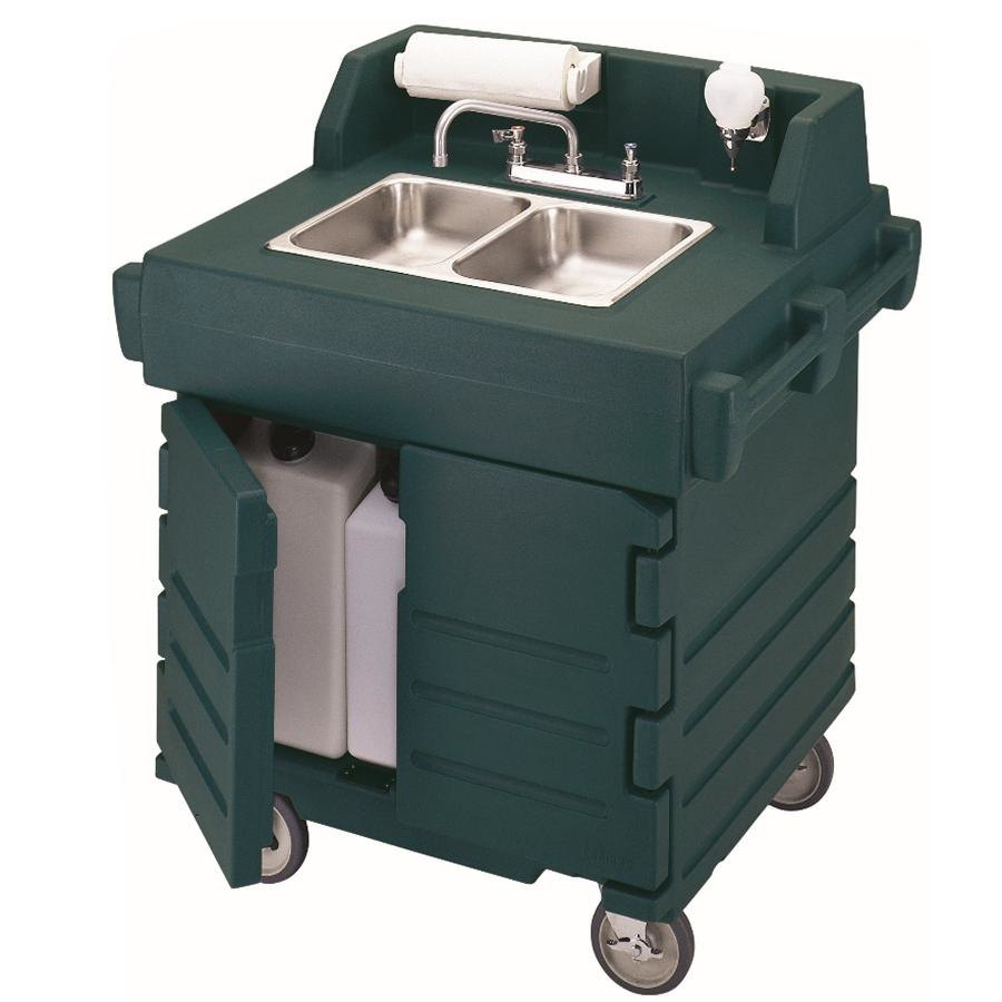 Cambro KSC402220519 Green CamKiosk Portable Self-Contained Hand Sink Cart 220V