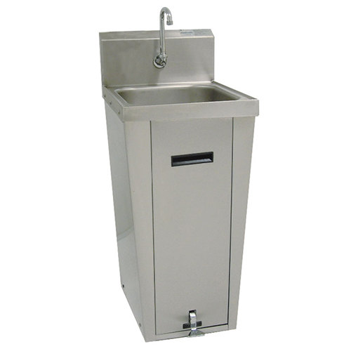 "Advance Tabco 7-PS-18 Hands Free Hand Sink with Pedestal Base and 14"" x 16"" Bowl"
