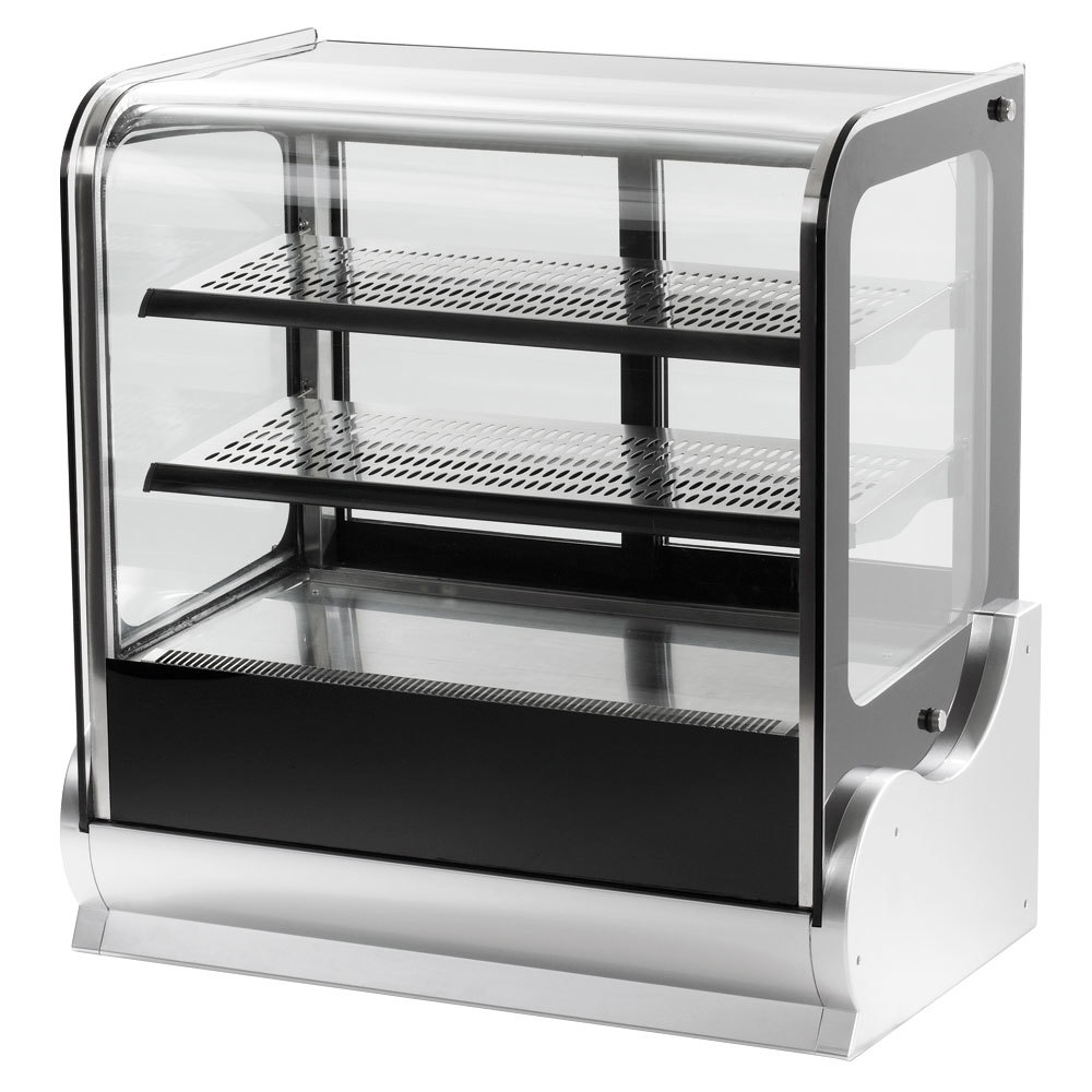 "Vollrath 40865 36"" Cubed Glass Heated Countertop Display Cabinet"