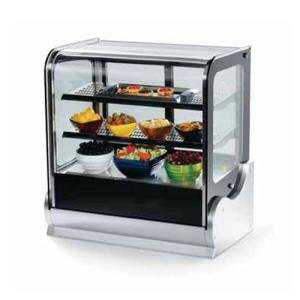 "Vollrath 40865 36"" Cubed Glass Heated Countertop Display Cabinet at Sears.com"