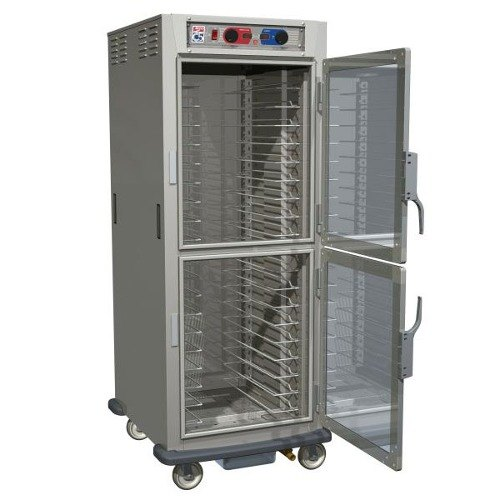 Metro C589-NDS-LPDS C5 8 Series Reach-In Pass-Thru Heated Holding Cabinet - Solid Dutch / Clear Dutch Doors