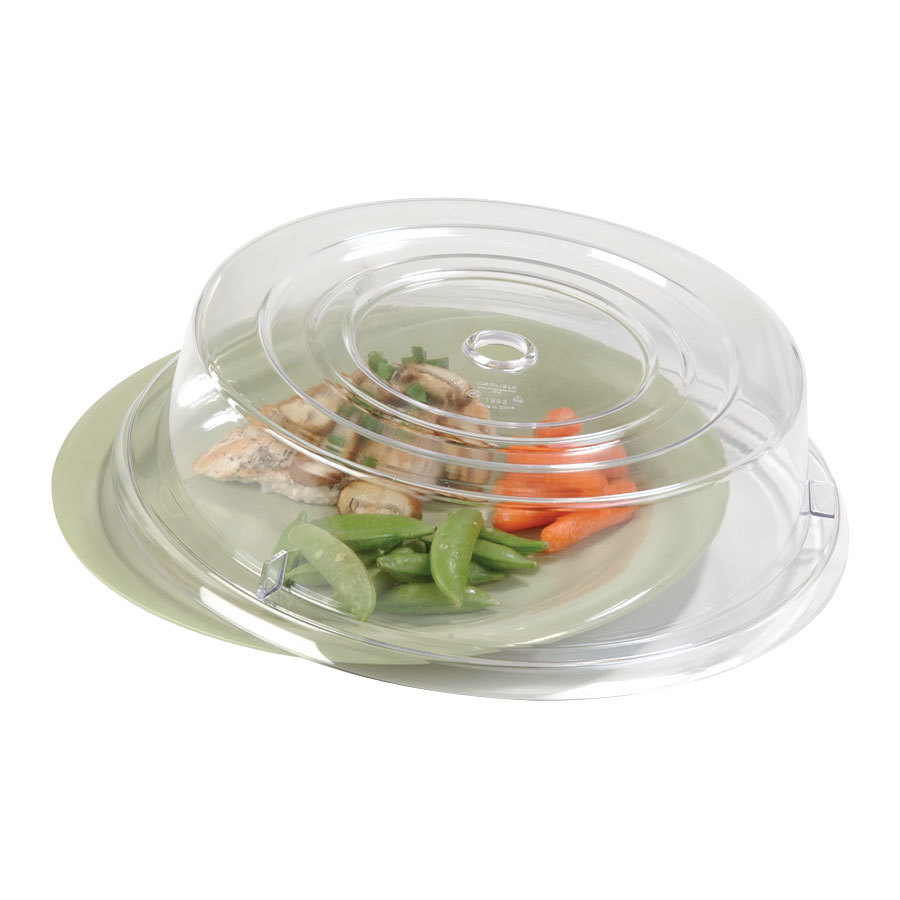 "Carlisle 199407 12"" Clear Plate Cover - 12 / Case"