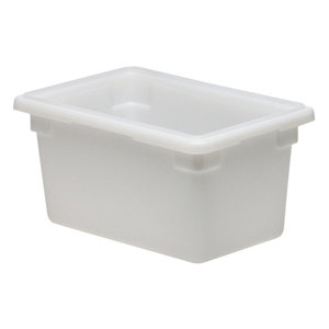 White Cambro 12189P148 Poly Food Storage Box 12 inch x 18 inch x 9 inch