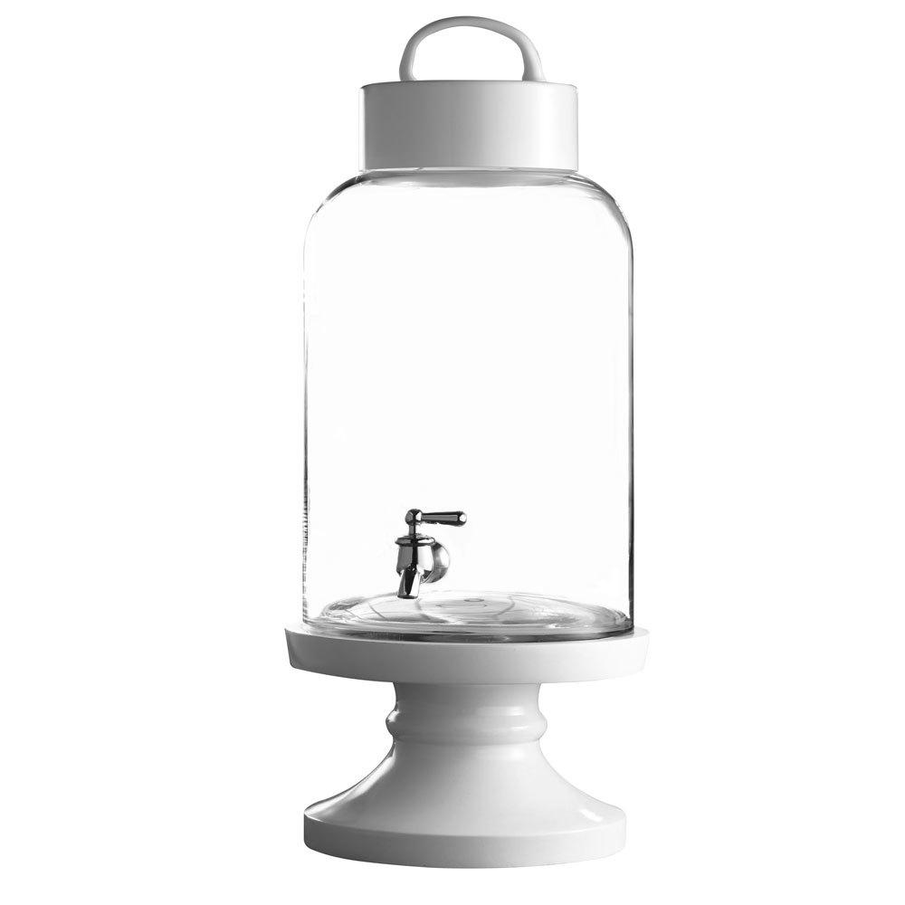 2 4 gallon savannah glass beverage dispenser with ceramic stand. Black Bedroom Furniture Sets. Home Design Ideas
