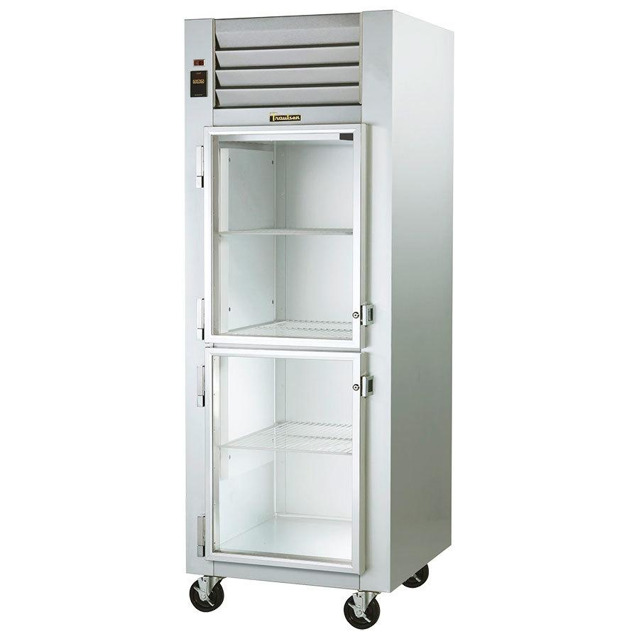 ... G11001 Glass Half Door Reach In Refrigerator - Left Hinged Doors